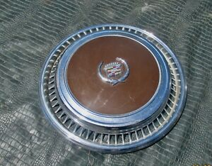 1967 1978 Cadillac Eldorado Biarritz Wheel Cover Hubcap Brown Nice