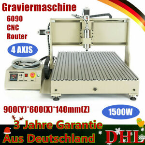 Usb 4 Axis 6090 Cnc Router Engraver Engraving Drilling Machine Cutting 1500w De