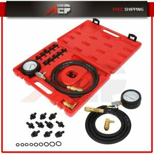 Auto Engine Oil Pressure Test Kit Tester Low Oil Warning Devices Gauge Tool Set