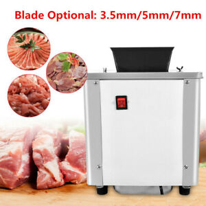 New 3 5mm Electric Meat Slicer Machine Stainless Steel Auto Meat Cuber 550w