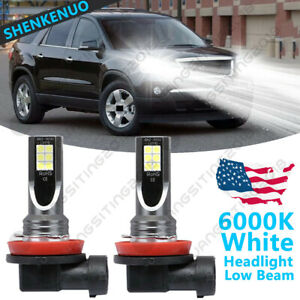 For Gmc Acadia 2007 2012 2pc 6000k White H11 Led Headlight Bulbs Low Beam By