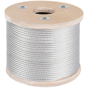 3 16 Stainless Steel Cable Wire Rope 7x19 Type 304 250 Feet