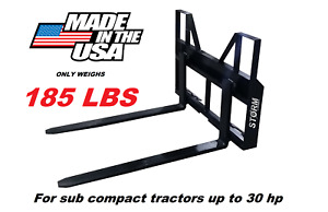 2000 Lb Falcon Skid Steer Tractor Pallet Forks Adjustable made In The Usa