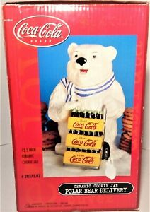 Ceramic Coca-Cola Cookie Jar Polar Bear Delivery # 20373.02 Gibson Stands 12.5