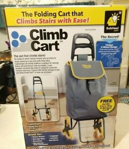 Telebrands Climb Cart Shopping Cart Dolly Climbs Stairs With Ease Jumbo Bag New