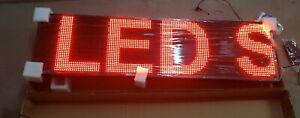 Large Bright Red Led Scrolling Sign Light 51 Indoor Or Semi outdoor Use New
