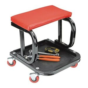 Mechanic s Roller Seat Tool Tray Storage Swivel Rolling Steel Auto Shop Garage