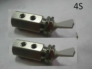 2 Nylon Air Pneumatic Stainless 3 way Detented Momentary Toggle Switch 4mm
