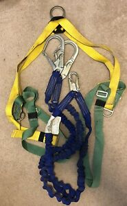 Xl Nopac Full Safety Harness And Double Lanyard Construction Equipment Roofing