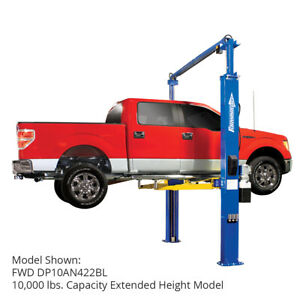 Forward Dp10a 2 Post 10 000lb Bi Metric Lift W 3 Stage Front Arms Extended Ht