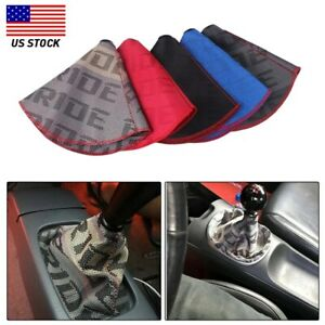 Shifter Boot Cover Bride Racing Hyper Fabric Shift Knob Mt at Stitches For Honda