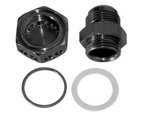 Moroso 22635 Positive Seal Vacuum Pump Bulkhead Fitting 12an Black