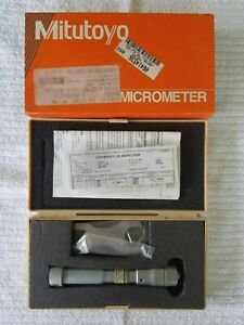 Mitutoyo 368 867 1 To 1 2 Mechanical Inside Hole Micrometer