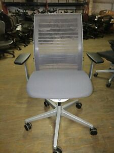 Steelcase Ergonomic Think Task Desk Chair Adjustable In 3d Knit Back New