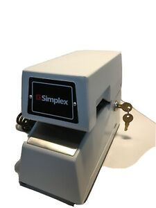 Simplex 1605 9001 Time Stamp 1605 Time Clock Tested With Key