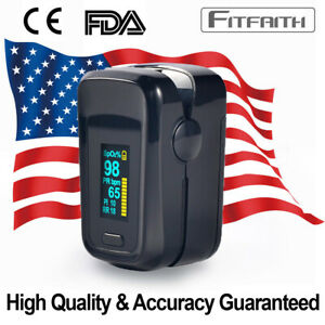 Finger Pulse Oximeter Blood Oxygen Spo2 Monitor Pr Pi Respiratory Rate Fda Ce