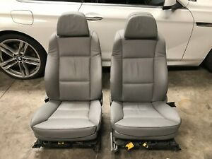 08 09 10 Bmw E60 528i 535i 550i Front 20 way Comfort Seats Grey Leather Pair