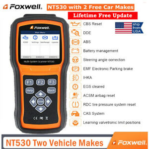 Foxwell Nt530 Obd2 Diagnostic Scanner Code Reader With 2 Free Car Makes Software
