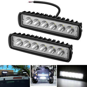 2 X 6 Inch 36w Led Work Light Bar Spot Flood Offroad Atv Fog Truck Driving Lamp