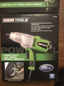 Oemtools 24666 Heavy Duty 1 2 Drive Corded Impact Wrench 1 2 Square Drive Used