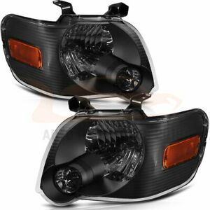 Headlights Fits 2006 2010 Ford Explorer Driver Passenger Side Light Pair