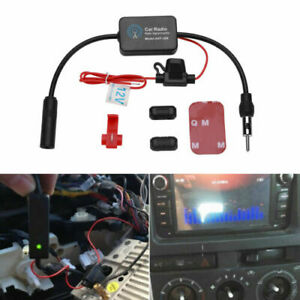Car Stereo Fm Am Radio Signal Antenna Aerial Signal Amp Amplifier Booster 12v
