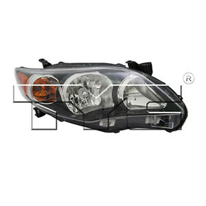 Fits 2011 2013 Toyota Corolla Headlight Passenger Side capa Black