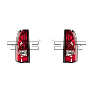 Fits 2004 2006 Chevrolet Silverado 1500 Tail Light Pair Side Capa
