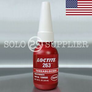 Loctite 263 Red High Strength Threadlocker 10ml Made In Usa Exp 2022