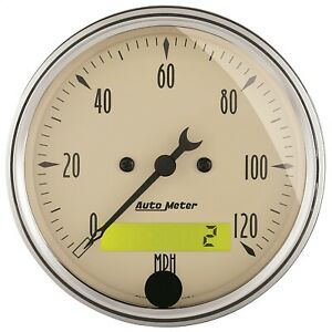 Autometer 1887 Antique Beige Electric Programmable Speedometer