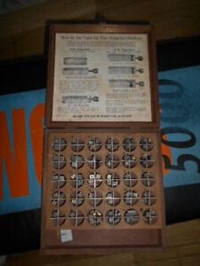 Kingsley Letter Type Set Upper Case Caps Hot Foil Stamping Machine