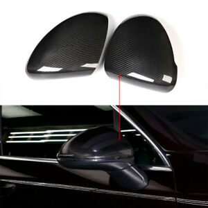 Real Carbon Fiber Rear View Wing Side Mirror Cover Cap For Cayenne 958 2015 2017