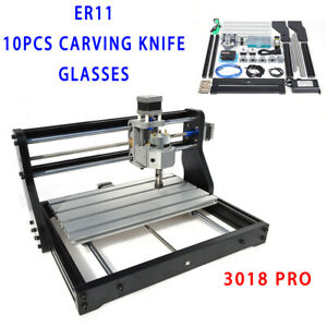 Mini Cnc 3018 Pro Engraving Machine Diy Router 2in1 Grbl Er11 W 500mw Laser Ce