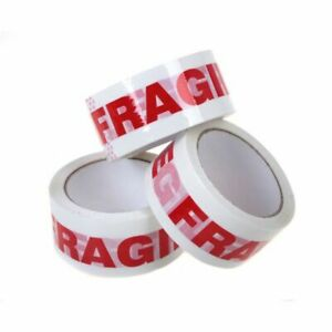 1 4 6 12 36 72 Rolls Fragile Handle With Care Carton Sealing Packing Tape 2x110