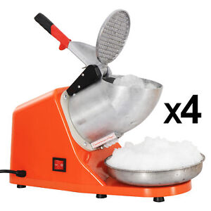 4x Electric Ice Crusher Shaver Machine 143 Lbs Silver Snow Cone Maker Shaved Ice