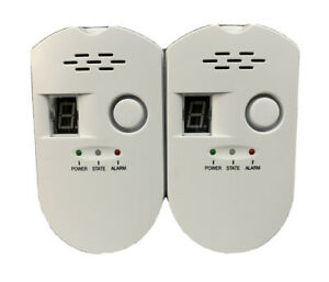 2 pack Flammable Gas Detector Alarm Propane Natural Gas Kitchen Home Open Box