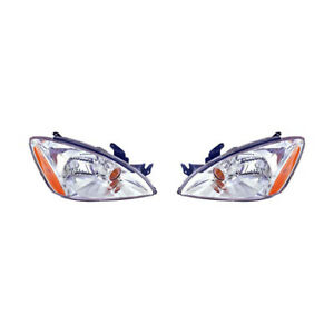 Fits 2004 2007 Mitsubishi Lancer Head Light Pair