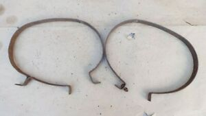 1923 1924 1925 Model T Ford Oval Gas Tank Straps Original Pair