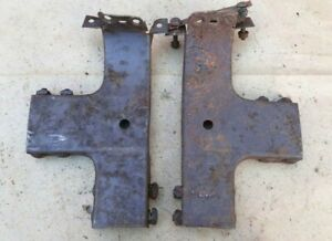1930 1931 Model A Ford Coupe Main Roof Top Brackets Original Pair B Pillar
