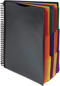 Samsill 24 Pocket Spiral File Folder Organizer With 12 Dividers With Pockets