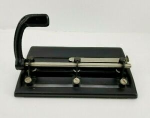 Vintage 3 Hole Punch Master Products Heavy Duty Metal Paper Industrial 3 25 Usa