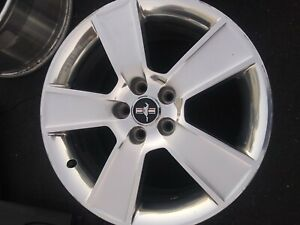 2006 2007 2008 2009 Ford Mustang Gt Polished W Silver Spokes 18 Inch Oem Wheel