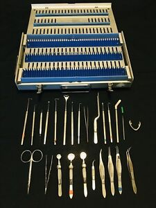 Karl Storz Surgical Ophthalmic Instruments Set W Metal Case 3 Germany 25 Pcs