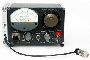 Gr General Radio 1232a Tuned Amplifier Null Detector 1232 a With P2 Preamp Bnc