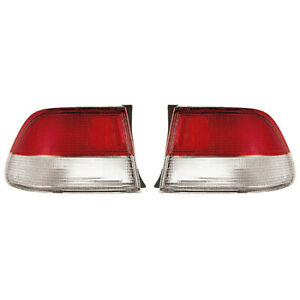 Fits 1999 2000 Honda Civic Pair Rear Tail Lights Driver And Rh Coupe