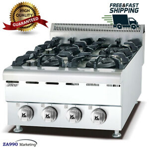 Commercial Kitchen Equipment 4 Burner Table Top Gas Range