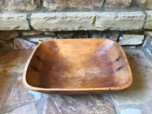Primitive Wooden Dough Trencher Bowl Very Large