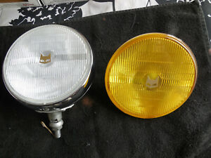 Marchal 900 Chrome Clear Fog Lamp Complete Working Plus Spare Amber Lens Nos