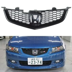 Front Bumper Grille For Honda Accord Cl7 Type S Euro R Acura 02 05 Tsx Mugen