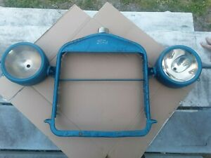 Vintage Ford Model T Radiator Shell Grill With Light Buckets Rat Hot Rod
